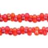 Bow Beads (Farfalle) 3.2x6.5mm Light Red Rainbow Transparent
